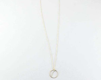 Necklace with moon charm