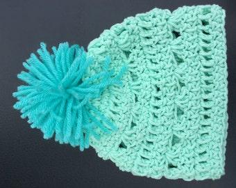 Crocheted gender neutral hats