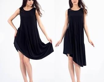 Black Tunic, Tunic, Asymmetrical Tunic, Plus Size Tunic, Oversized Tunic, Black Tunic Top, Loose Tunic, Extravagant tunic, Plus size tunic