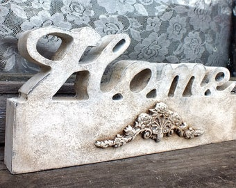 Home sign Vintage style decor Handpainted