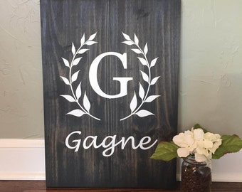 Custom Monogrammed Wooden Sign | Family Wooden Sign | Personalized Wooden Sign | Family Established Wooden Sign | Wooden Sign Wedding Gift
