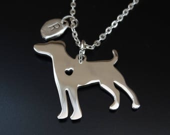 Jack Russell Necklace, Jack Russell Charm, Jack Russell Pendant, Jack Russell Jewelry, Jack Russell Terrier Necklace, Jack Russell Terrier