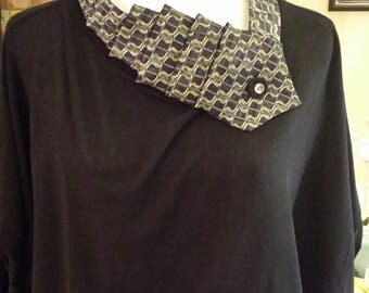 Jane unique feminine neck accessory handmade from vintage neckties