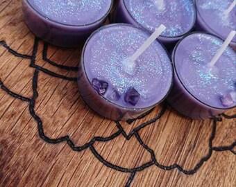 Purple Frankincense  Candles, Violet Flame, Gridding,Meditation,Tea Lights ,Saint Germain ,Ascended Master,Soy wax,Hippy, Reiki