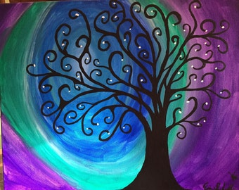 Artistic/Comical Swirl Tree paintings