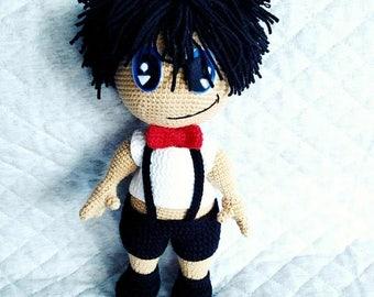 Crochet amigurumi toy Elegant Boy.