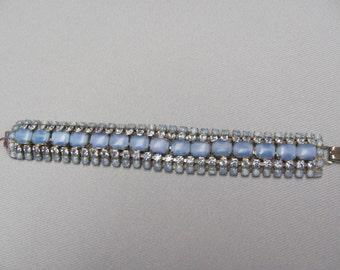Vintage Blue Rhinestone Bracelet.