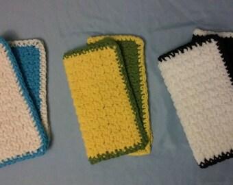 Crochet Cotton Dishcloth - Set of 2 Multicolored