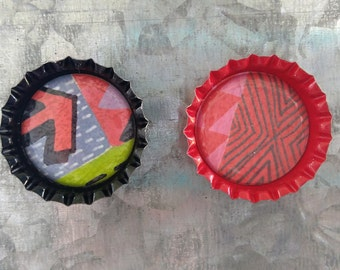 Artsy Bottlecap Magnets