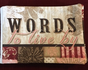 Words to Live By Cloth Book
