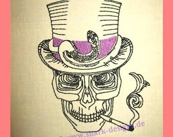 Embroidery file skull noblesse, embroidery design, embroidery design, embroidery designs, embroidery design, skull, skull