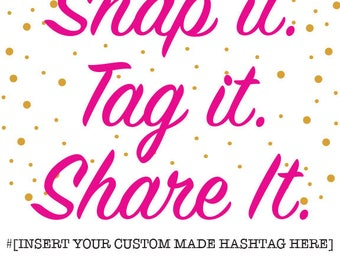 Custom Event Hashtag - 2 Options plus Sign