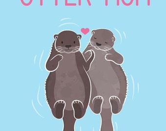 No Otter Mom Like You - Printable Card