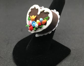 Chocolate Heart Cake Ring