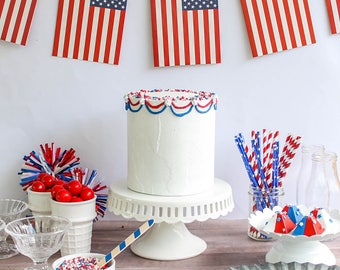 Patriotic Cake- Fake cake, prop cake, party decor