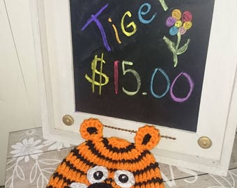 Hand Crochet Tiger Hat