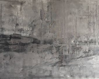 Large Grey Atmospheric Abstract