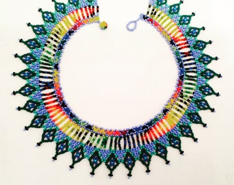 Handicraft colourful necklace