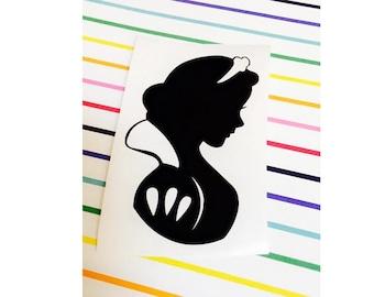 Snow White iPhone Decal / Snow White iPhone Sticker  - iPad, MacBook, Car