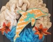 Tropical Dolphin Wreath