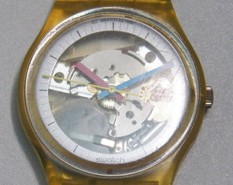 Vintage 1986 Swatch Watch - GK100RE Jelly Fish