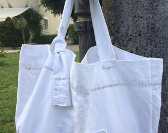 tote bags in old bedsheet