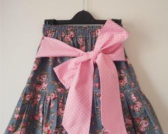 Handmade Girls Age 3-4 Years Skirt ''Vintage Rose''