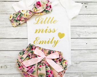 Baby Girl Coming Home Outfit, Baby Girl Clothes, Personalized Newborn Girl Outfit, Newborn Girl, Baby Girl, Baby Girl Outfit, Newborn