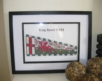 A4 Print of Henry VIII Livery Banner, Renaissance, Tudor, Medieval
