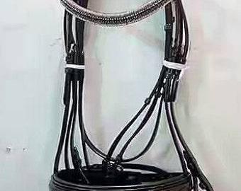 english leather horse bridle