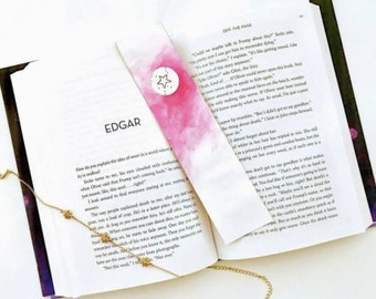 Stars and Constellations Circle Cutout Watercolor Bookmark