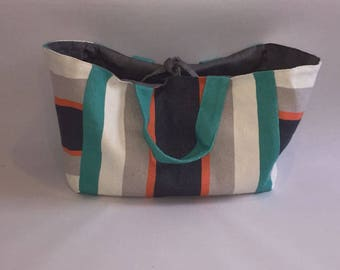 Canvas Shoulder Bag Reversible
