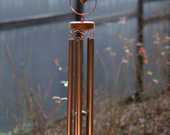 Windchimes Large Outdoor Colorful Glass Copper Wind Chime