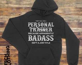 Personal Trainer Hoodie   Trainer Sweatshirt   Fitness Coach Sweatshirt   Workout Hoodie    Gift for Personal Trainer   Plus Size Too AR-130
