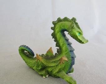 Fierce Green Dragon Figurine