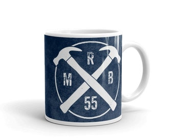 Personalized Hammer Monogram Mug- Personalized Mens Gift- Personalized for Him- Gift for Him- Hammer Mug- Coffee Mug