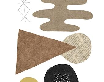 Shapes / Fine Art Print  / A3 A4 A5
