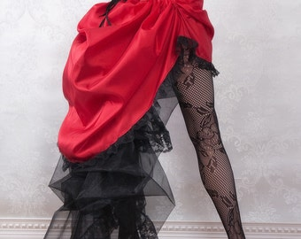Lady in Red Steampunk Skirt or Costume - Ready to Ship