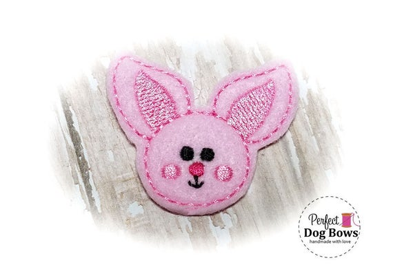 Easter Dog Grooming Bows, Easter Bunny Dog Hair Bow, Pink Bunny