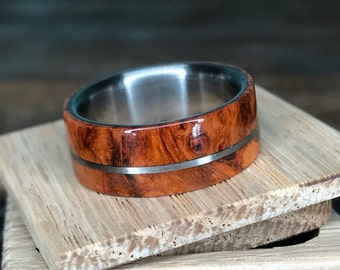 Titanium Ring, Wood Ring, Wedding Ring, Handmade Ring, Mens Ring, Womens Ring, Custom Made Ring, Engagement Ring, Wedding Band, Unique Ring