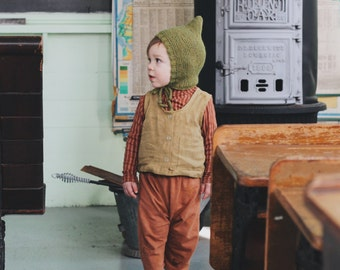 Organic Linen Childrens Snap Vest