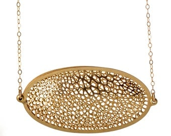 Capsule Necklace | etched brass | Corollaria collection