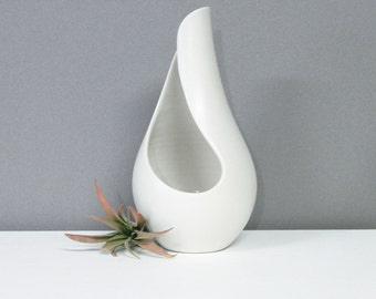 Handmade Porcelain Sculpture Vase White - Contemporary Ceramic Sculpture Abstract - Modern Pottery - Modern White Sculpture One of a Kind
