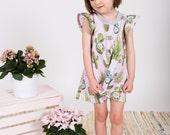 Cactus print jersey dress toddler girls Supayana SS2017