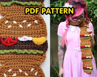 Burger Scarf - PDF Crochet Pattern