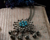 Sacred Vintage Gypsy Bell Necklace - Bohemian Bells - Chime Necklace