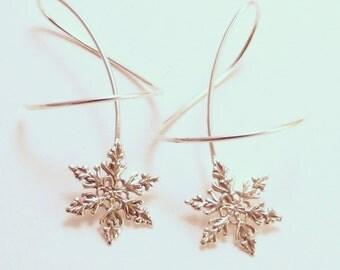 WINTER BREEZE  Sterling Silver 925 Dangle Earrings  - Fun Twirl-in Casual Earwear