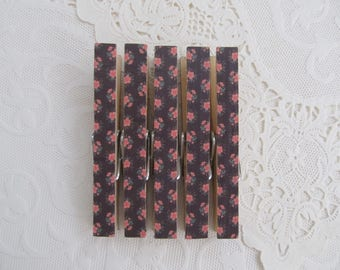 Shabby Chic Floral Decorative Clothes Pins