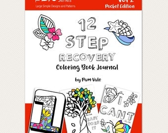 The Big Easy Series Vol 2 12 Step Recovery Coloring Book Journal