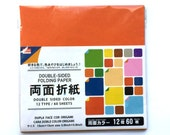 Japanese  Paper 12 Colors 60 Sheets 15 x 15 cm Origami Paper - Double Sided Paper - Folding Paper (P18)